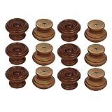 sourcingmap Per cassetti a foro singolo legno Pomelli Maniglie rosso marrone 37mmx25mm 12pz