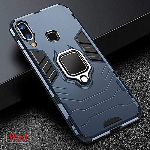 LIUSHENQING Funda para telefono movil Imán Anillo de Metal en la Caja para el Xiaomi Redmi Note 7 mi 8 Lite Funda a Prueba de Golpes para Xiaomi mi 8 SE A2 A1 Estuche para Auto