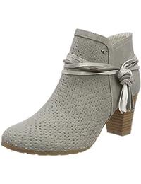 Damen Stiefeletten Schuhe Boots Designer Schlüpfstiefel mit Fransen und Nieten Hellbraun 35 Srj6C3LH7