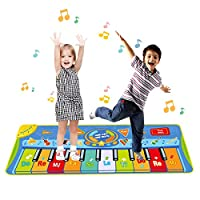 Upgrow Record-Playback Piano Musical Mat,Kids Touch Play Game Dance Music Blanket Carpet Mat,10 Piano Touch, 8 Musical Instruments, 5 Mode Dance for Boys Girls Baby Blanket Early Education Toys