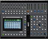 IMG STAGELINE DMIX-20 19-Kanal-Audio-Digital-Mischpult, Touchscreen, 2 DSP-Effekteinheiten, 16 Mono-Eingangskanäle, 8 Kanal-Inserts, 2 Stereo-Eingangskanäle