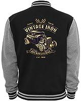 Ethno Designs Vintage Iron - Hot Rod College Jacke für Damen und Herren - Old School Rockabilly Jacke Ethno Designs Retro Style