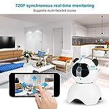 GOTOTO Caméra Surveillance WiFi sans Fil 720P HD Caméra de Sécurité Intelligente, Fonction d'accès à Distance, en Forme de Panda, pour Personnes Âgées Bébé Animal