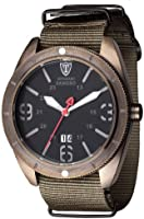 DETOMASO Sangro Men's Quartz Watch with Black Dial Analogue Display and Green Nylon Bracelet Dt1062-B