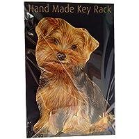 Yorkshire Terrier, Yorkie, regalo unico fatto a mano in legno chiave titolare rack/Guinzaglio del cane. Dimensioni circa 20,3x
