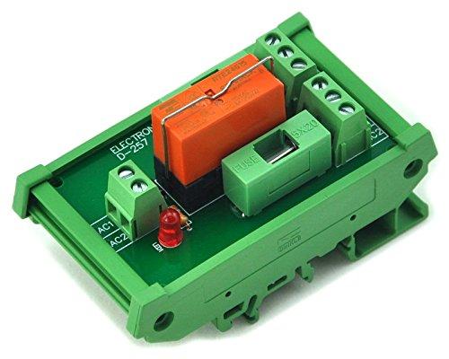Electronics-Salon Montage sur rail DIN Fusible DPDT 8A Relais d'alimentation Module d'interface, Relais AC 115V.