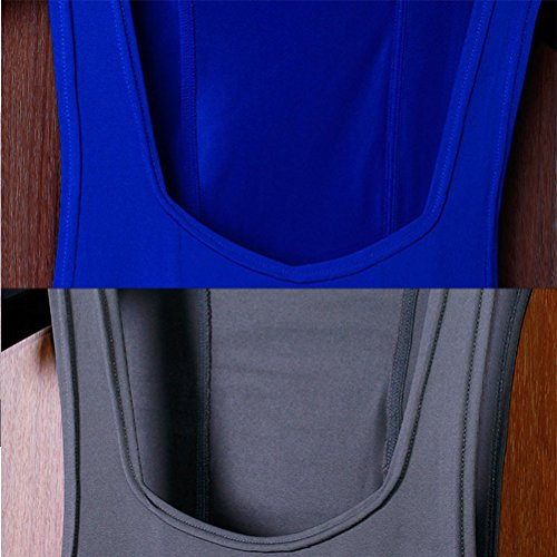 Zhuhaitf Herren Gym Weste Mens Soft Gym Vest Underwear Base Layer Loose Fit Tank Top Sportswear Homewear Perfect Gift Blue