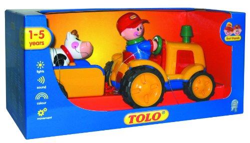 Tolo 89746 - TOLO Erste Freunde - Traktor mit Hänger