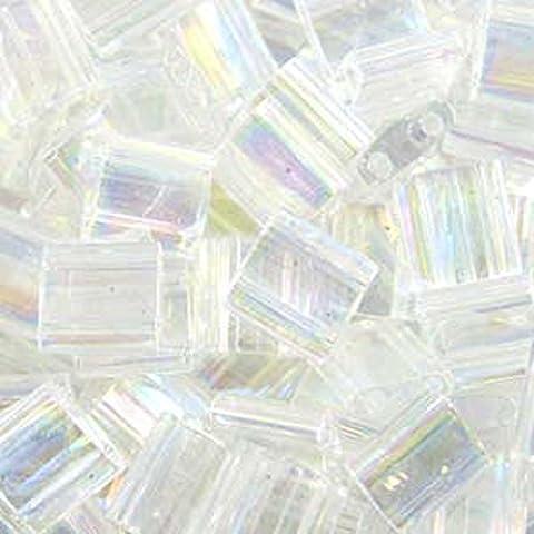 Miyuki Tila 2 granos de cristal Ab 7,2 GR agujero cuadrado