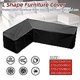 NIBESSER Abdeckung für Gartenmöbel L-Form Wasserdicht Sofa Abdeckung Möbel Schutz Sofabezug