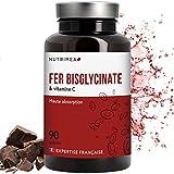 FER bisglycinate + Vitamine C NUTRIMEA  Absorption et biodisponibilité maximale  14 mg de Fe/gélule  FABRICATION FRANCAISE  90 gélules végétales - SATISFAIT OU REMBOURSE
