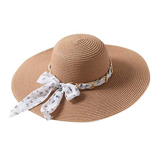 Bow Sonnenhut Damen Sommer Strand Breite Krempe Sonnenhut UV Schutz Safari Hut Sommerhut Sonnen Shade mit Visor Shade Safari-hut