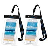 Waterproof Phone Case 2 Packs,Mpow IPX8 Waterproof Pouch Dry Bag Underwater Case for iphone7,6/6s plus,5/5s/SE,Samsung s7,s6,Note 4/3 and Other Cellphones up to 7 inches