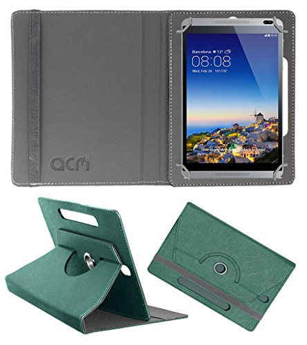 Acm Designer Rotating Leather Flip Case for Huawei Mediapad M1 Cover Stand Turquoise  available at amazon for Rs.189