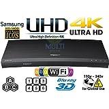 Samsung UBD-K8500 4K Ultra HD 3D WiFi [ Region Free] Blu-Ray Disc Player | Dual HDMI | PAL/NTSC |100~240V 50/60Hz