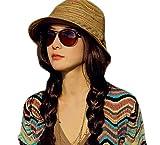 Hosaire 1x Sombreros del sol Patrón de arco iris sombrero de paja para Mujer gorras de Visera UPF 50+ Protección UV Verano Playa Gorro Sombrero del visera size 56-58cm