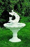 Gartenbrunnen Brunnen aus Betonwerkstein inkl. Pumpe und Zubehör Säulenbrunnen Steinbrunnen Terassenbrunnen