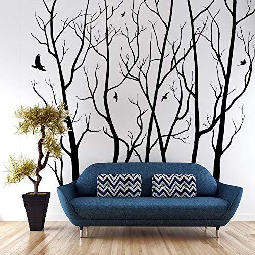 Grand Mur Art Décor Vinyle Arbre Forêt Decal Autocollant (choisir la taille et la couleur) arbre sticker mural Décoration murale de mur Art 183 * 203cm