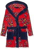 Leomil Fashion Jungen Bademantel Bathrobe, Rot (Red/Dark Blue 028), 92 (Herstellergröße: 2)