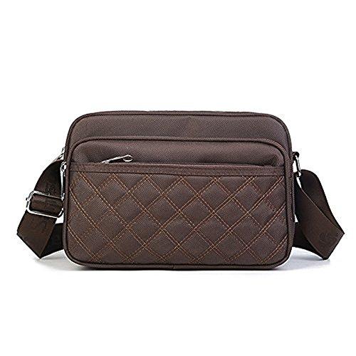 Meoaeo Wasserdichtes Nylon Oxford Tuch Tasche Handtasche Süsse Dame Wasserdichte Tasche, Violett Coffee