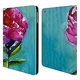 Head Case Designs Offizielle Mai Autumn Pfingstrose 2 Bluete Blumig Brieftasche Handyhülle aus Leder für iPad Air (2013)