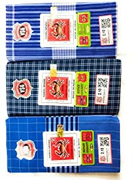 Nandu Men's Cotton Lungies - Pack of 3 (Multicolour_Free Size)