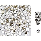 S.A.V.I 5g/Pack Ab Glass Rhinestones Stones Shiny Gems Manicure Accessories Gold Flatback Mixed Sizes For Nail Art Decoration (Clear), Multicolor, 4 g