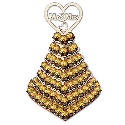 Qjdecoy Schokoladenständer Schokoladenständer aus Holz, Hochzeitssüßigkeitenständer, perfekte Dekoration für den Hochzeitsempfang Schokoladenständer -