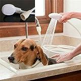 freeas Hund Dusche Spray Pet Duschen/Baden Handheld Duschkopf mit 1.1Meter/109,2cm Schlauch, Weiß