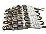 YXH® LED Modulo 12V (RGB 100 Pz) Fai Da Te Kit Modulo di iniezione rettangolare,Illuminazione  Led luce del tabellone per le affissioni della lettera, al coperto all'aperto (20 Pz/corda)
