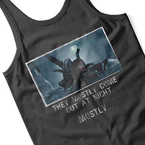 They Mostly Come Out At Night Mostly Aliens Men's Vest Black