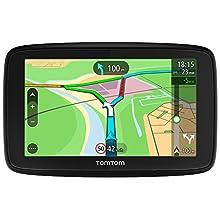 TomTom Car Sat Nav VIA 53, 5 Inch with Handsfree Calling, Updates via Wi-Fi, Lifetime Traffic via Smartphone and EU Maps, Smartphone Messages, Capacitive Screen
