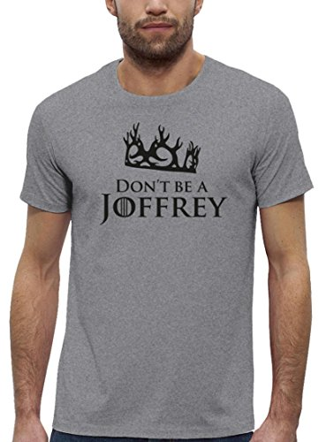 Serien Premium Herren T-Shirt aus Bio Baumwolle mit Don't Be A Joffrey Marke Stanley Stella Heather Grey