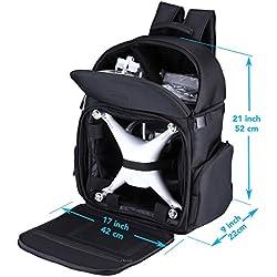Lykus Résistant à L'eau Sac à Dos de Voyage pour Modèles DJI Phantom 4 / 4 Pro, Phantom 3, Phantom 2, Taille Bagage à Main, L'espace pour Tous les Accessoires