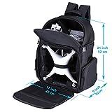 Lykus wasserabweisend Rucksack für DJI Phantom 4 / 4 Pro, Phantom 3, Phantom 2 Modelle, Größe eines Handgepackes, kann alle Zubehörteile verstauen