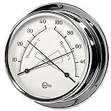 Barigo 984CR Regatta Thermometer Hygrometer analog Chrom 120mm