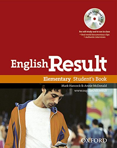 English Result Elementary. Student's Book DVD Pack por Mark Hancock