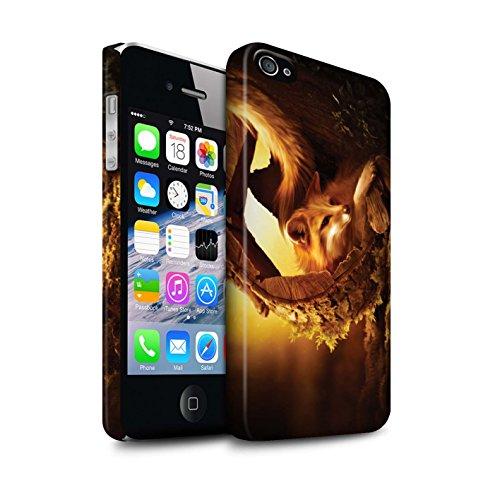 Officiel Elena Dudina Coque / Clipser Matte Etui pour Apple iPhone 4/4S / Petit Panda/Bambou Design / Les Animaux Collection Jacinthe