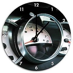 Idea Regalo - Stil.Zeit Infissi in Macchina Sportiva, Orologio da Parete 48 Centimetri puntatore Pizzo Nero