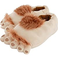 Plüsch-Halblingsfüsse Halbling Plüsch-Pantoffeln Hobbit Füße Hausschuhe Polyester Anti-Rutsch-Sohle 38-40/44-46