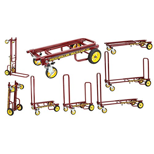 Rock-N-Roller R2RT-RD (Micro) 8-in-1 Folding Multi-Cart/Hand Truck/Dolly/Platform