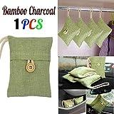 2Auto Bambuskohle Paket , mamum 2Tasche Auto Bambuskohle Aktivkohle Lufterfrischer Geruch Deodorant NEU Einheitsgröße 1Stück