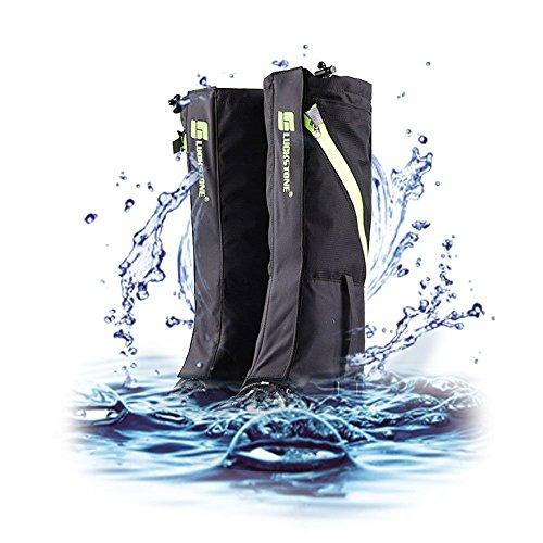 Outdoor Wasserdicht Gamaschen, 2win2buy Atmungsaktiv Bein Schutz Legging Gaiter, gegen Anti Staub Schlamm Schnee zum Wandern, Klettern und Schneewandern (Nylon-winter-schnee-stiefel)