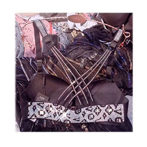 Shatong-underwear intimo senza anello in acciaio raccoglitore con reggiseno per trapano reggiseno sexy bellezza posteriore (dimensioni : 85cm)