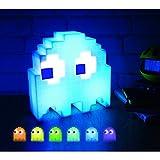 Lampada PAC MAN Fantasmino Cambia Colore a Tempo di Musica - Luce USB