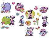 Unbekannt 17 tlg. Set 3-D Sticker / Aufkleber - Minnie Mouse - auch für Textilien Stoff Metall Papier - fest - Maus Daisy Herzen z.B. für Stickeralbum - für Kinder Mädchen
