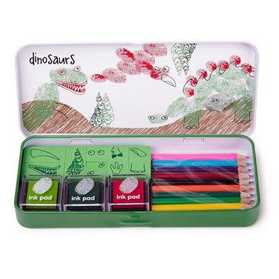 finger-printing-dinosaurs-ink-pad-pencils-stamps-gift-set