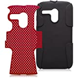 iCues LG G2 MINI 2 Part Air Cover - Rot - Zweiteilige Bauweise - flexibles Silikon mit Polycarbonat Rückseite + Displayschutzfolie