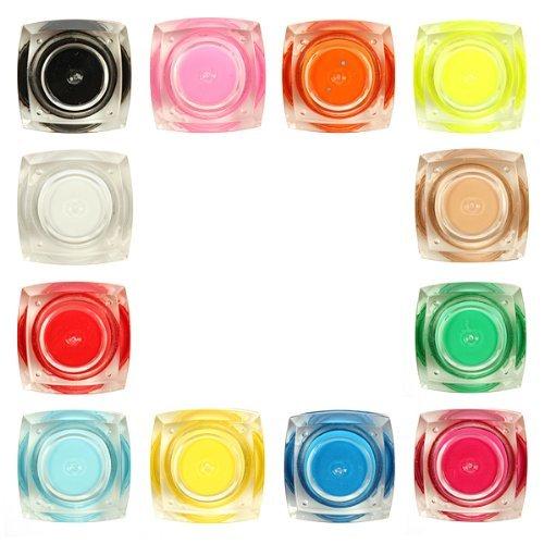 Davidsonne 12 couleurs 3D Nail Art Manucure Design polonais Glaze Gel UV Set, Solid Color
