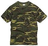 Generic - Camiseta - Manga Corta - para Hombre Woodland Camouflage XXX-Large